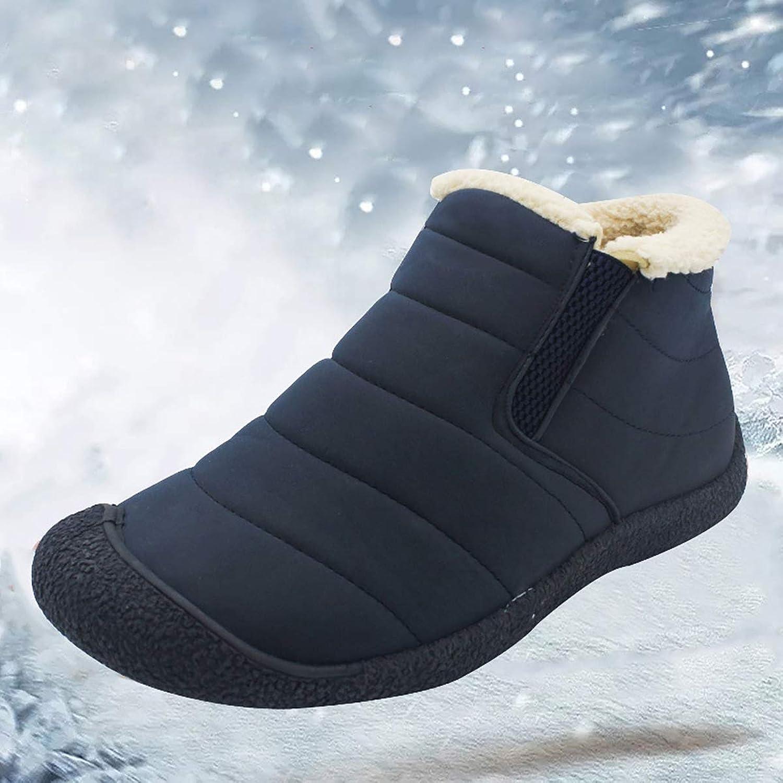 Fad-J Paar Schneeschuhe, Unisex Wasserdichte Turnschuhe, warme Rutschfeste Wanderschuhe,Blau,43 Wanderschuhe,Blau,43  Online-Shopping und Modegeschäft