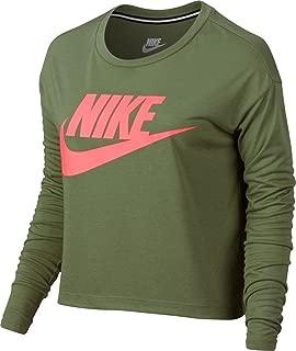 NIKE Essential Long Sleeve Crop Top Womens