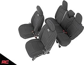 Rough Country 91010 Neoprene Seat Covers Black 4 Door Compatible w/ 2018-2019 Jeep Wrangler JL 4DR Water Resistant