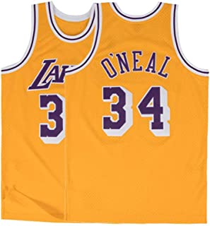 Men's O'Neal Jersey 34 Los Angeles Basketball Gold Shaquille