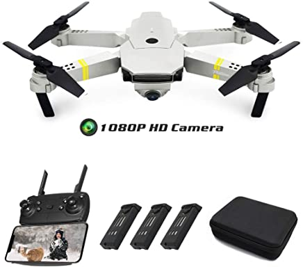 $79 Get Drones with Camera 1080P HD, Global Drone GD88 PRO, Selfie Pocket Drone with Altitude Hold, One Key Take Off/Landing, Wi-Fi FPV Quadcopter Drones for Adults, Beginners-(3PCS Batteries)