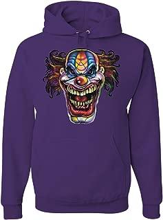 Mad Evil Clown Face Hoodie Scary Horror Insane Joker Sweatshirt