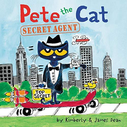 Pete the Cat: Secret Agent audiobook cover art
