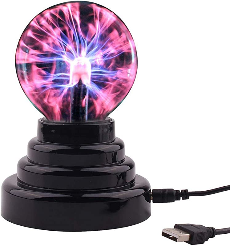 Forart True 3 Inch Magic Plasma Ball Touch Sound Sensitive Plasma Lamp Light Nebula Sphere Globe Novelty Toy For Decorations Kids Bedroom