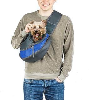 24x7 eMall® Pet Sling Carrier - Small Dog Cat Sling Pet Carrier Bag Safe Comfortable Adjustable Pouch Single Shoulder Carr...