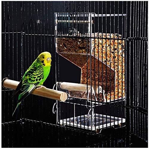 Hängen Fenster Parrot Feeder, Vogelhäuschen Wilde Praktische Traditionelle Im Freien mit Ständer aus Kunststoff Garten Große Clear Window Bird Feeder (Size : B)