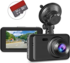 """Dash Cam with SD Card Included, Full HD 1080P Dashcams for Cars Dash Camera in Car Dash Cam with Night Vision, 170°Wide Angle 3"""" IPS Screen WDR Loop Recording G-sensor Motion Detection Parking Monitor"""