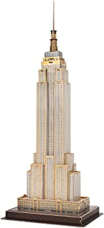 CubicFun 3D New York Puzzles Small Architecture Building Paper Craft Model Kits Toys for Adults and Teens, Empire State Building
