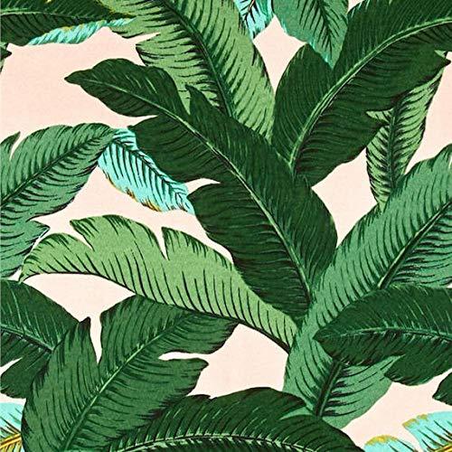 Thomas655 Roze Groen Tropische Palmen Decoratieve Ontwerper Kussen Cover Accent Kussen moderne bloemen palmbladeren drank heuvels blozen banaan blad poeder