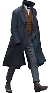 Men's Fantastic Beasts Long Length grindelwald Hi-Quality Scamander Wool Coat