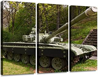 YKing1 Tank m84 Old Heavy Guns and Pictures Wall Art Painting Pictures Print On Canvas Stretched & Framed Artworks Modern Hanging Posters Home Decor 3PANEL