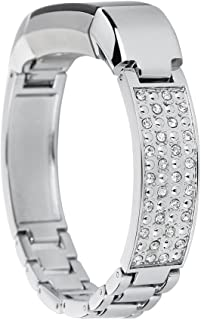 EPYSN Replacement Metal Bands Compatible with Fitbit Alta Bracelet/Alta HR Jewelry Bangle Silver-Bling