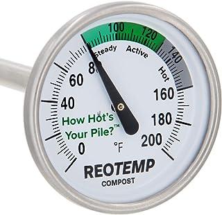 دماسنج کمپوست حیاط خلوت REOTEMP - ساقه 20 اینچ ، با دستورالعمل های کمپوست (0-200 فارنهایت)