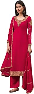 فستان هندي باكستاني حقيقي جورجيت مستقيم فستان كامييز للنساء المسلمين فستان بوليوود بتصميم أنيق 6059