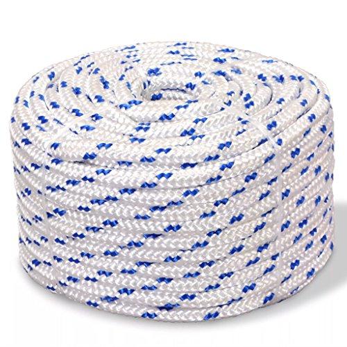 Tidyard Bootsseil Vielzweckseil Polypropylen Seil, Verschleißfest, 12 mm x 50 m Weiß