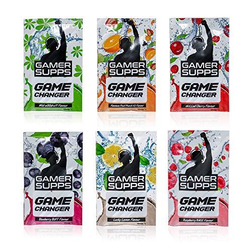 Energy Booster GAME CHANGER von GAMER SUPPS | eSports Energy Drink Pulver | Wenig Kalorien | Wenig Zucker | 280g | 40 Portionen