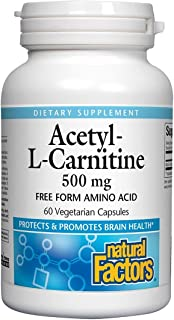 Natural Factors Acetyl L-Carnitine 500 milligrams, 60 Vegetarian Capsules