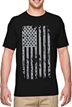 HAASE UNLIMITED Silver American Flag - USA Patriotic Freedom Men's T-Shirt