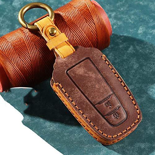 YHDNCG Protector de llave de coche, funda de cuero para llave de coche, llavero remoto sin llave, bolsa de llaves protectoras, para Toyota Camry 2018-2019