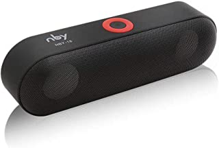 nby NBY-18 Bluetooth Speakers Wireless Stereo Sound Box Dual Bass Loudspeaker Support FM Radio TF Card aUX IN U Disk Music Play Built-in Microphone