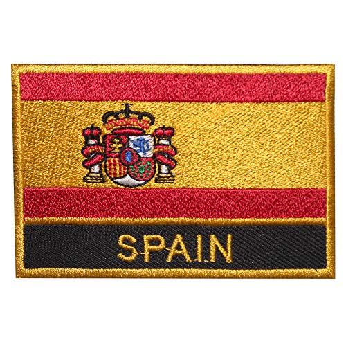 Parche bordado con la bandera nacional del Real Imperio de España, para planchar o coser en camisetas