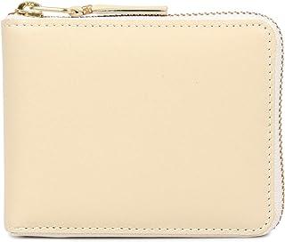 COMME des GARCONS CLASSIC WALLET コムデギャルソン 財布 二つ折り ラウンドファスナー 本革 オフホワイト SA7100