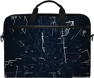 VICAFUCI Nuova Borsa per Laptop 15-15.4 Pollici Borsa del Portatile,Motion Graphic Nero Techno