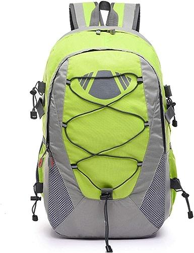 ZXPzZ Sac à Dos Camping Sac à Dos de randonnée pour Hommes Femmes Sac à Dos Sac en Nylon imperméable extérieur (35 L) (Couleur   vert)