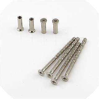 4 Piece Universal M4 Screw Connecting Bolts & Sleeves for Door Handle Nickel