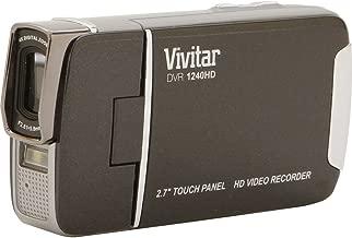 Vivitar DVR1240HD-BLK 12.1MP Full HD Digital Camcorder with 4X Digital Zoom Video Camera with 2.7-Inch LCD Screen (Black)