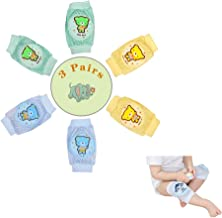 Baby Knee Pads for Crawling, Breathable Kneepads for Boy Girl 3 Pairs