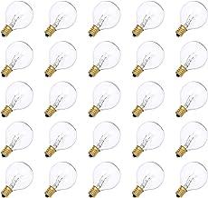 Yorten AC230V G40 Globe Tungsten Incandescent Bulb Lamp 25 Pack E12 Base Socket Holder IP44 Water Resistance Warm White fo...