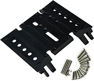 CNC Aluminum Center Skid Transmission Plate for 1/10 Axial Wraith 90018 RC Truck Car Black
