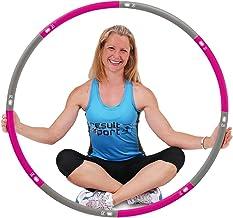 ResultSport Hula Hoop banden voor volwassenen, 1,2 kg, gewicht 100 cm breed, 8-delige afneembare, verzwaarde fitnessbande...