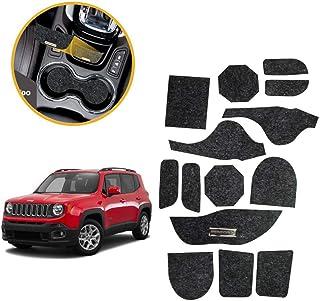 Kit de 14 peças, Jogo de Tapetes Jeep Renegade 2015/2016/2017/2018/2019 Porta Objetos Copo Titanium Tapetes Automotivos KF...
