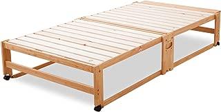 エムール 折りたたみ ヒノキすのこベッド ハイタイプ ワイドシングル ベッド 折りたたみベッド すのこベッド ベッドフレーム 日本製