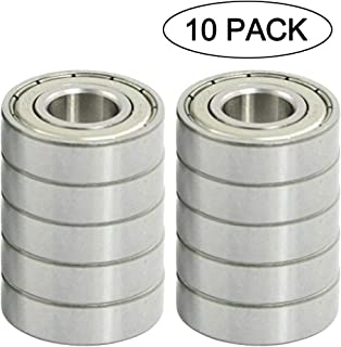 683ZZ 3 x 7 x 3 mm Deep Groove Ball Bearing, 10 Pcs, Double Metal Shielded Miniature Ball Bearings, Fit for Skateboard Bearings, Hand Spinner, Brush Motor, EMAX, Cooling Fan etc. (Pack of 10)