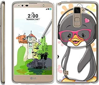 TurtleArmor | Compatible with LG Stylus 2 Plus Case | LG Stylo 2 Plus Case [Flexible Armor] Ultra Slim Compact Clear Flexible TPU Case Fitted Soft Bumper Cover Animal - Cute Penguin