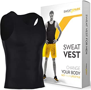 Sweat Vest for Men - (S-6XL) - Advanced Weightless Neoprene Sauna Shirt – Increase Your Workout Motivation - Designed in The USA
