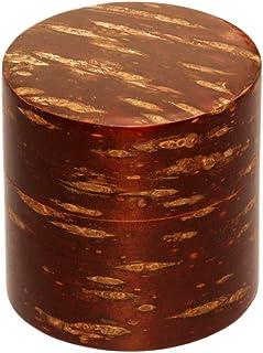 酒井産業 桜皮茶筒(平缶100g) 内側は密閉性の高いブリキ製 使い込む程につやが出る 桜皮細工 茶葉入れ 保管 高級 デザイン おしゃれ おもてなし お茶 ギフト 日本製