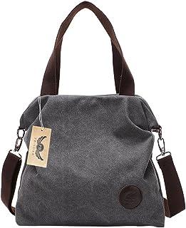 99343a2b564023 PB-SOAR Damen Canvas Tasche Schultertasche Handtasche Umhängetasche Shopper  Beuteltasche 41x36x10cm (B x H