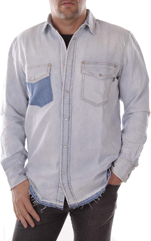 Diesel Camisa Vaquera Hombre (M, Azul): Amazon.es: Ropa