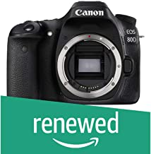 Canon EOS 80D Digital SLR Camera Body (Black) (Renewed)