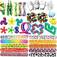 Sensory Toys Bundle-Fidget Toys Set for Stress Relief and Anti-Anxiety for Kids and Adults, Sensory Fidgets and Squeeze Widget for Relaxing Therapy-Special Toys Assortment for Anxiety Autism