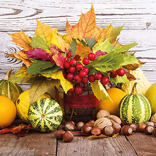 Papier Servietten Lunch Fest Party ca 33x33cm Herbst Autumn Halloween Winter Fall Bouquet