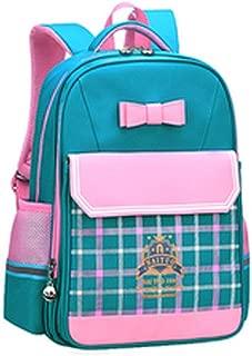Wuhuizhenjingxiaobu01 School Bag, Student Bag, Shoulder-length Ultralight Backpack, Suitable For Grade 1-6 Students, 37 * 26 * 15cm, Blue, Turquoise,Modern aesthetic design