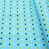 STOFFKONTOR Oxford Gewebe Color Dots Stoff Meterware
