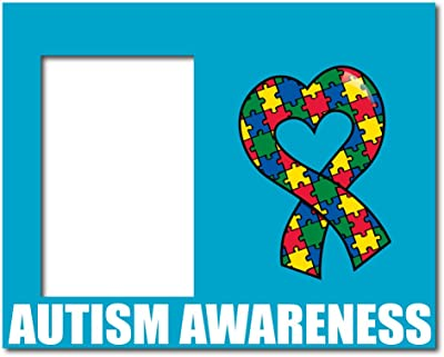 VictoryStore Gift Frame - Autism Awareness Picture Frame #3 - Autism Awareness with Puzzle Piece