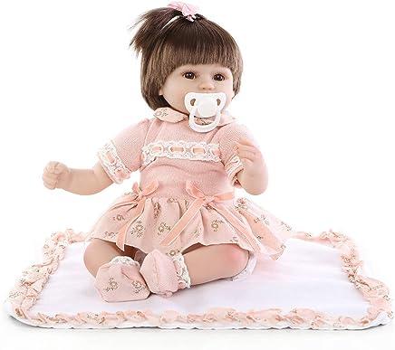 9c1588585 certainPL Realistic Reborn Baby Doll, 18 Inch Lifelike Silicone Vinyl Newborn  Baby Doll for Kids