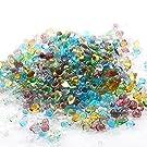 ガラスの粒 <極小キラキラmix 1~3mm> ミックスカラー 硝子の雫 レジン UVレジンパーツ 封入 硝子のかけら カレット パウダートレーディング